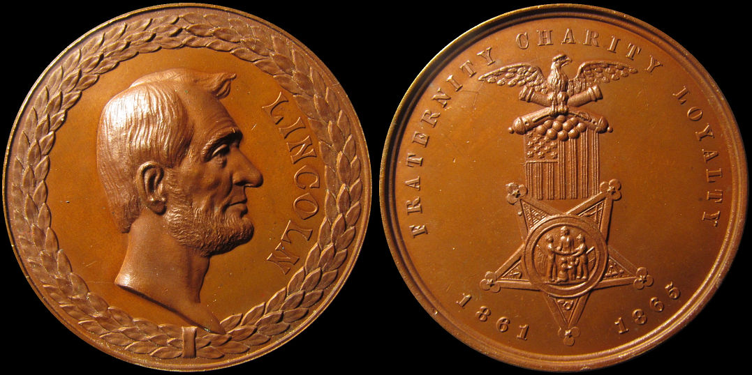 Lincoln Grand Army of the Republic 1861 1865 Medal