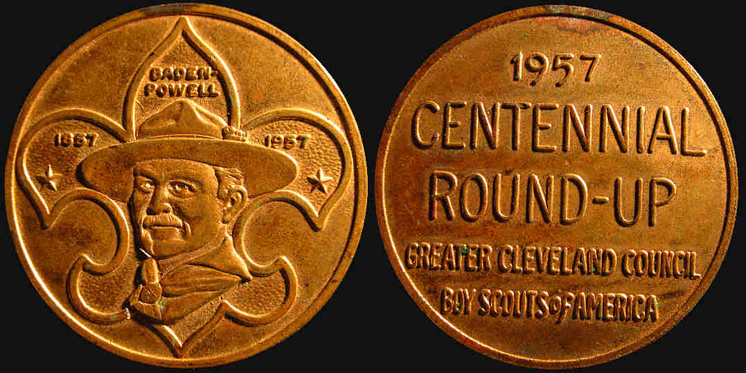 Boy Scouts America Centennial Roundup Cleveland 1957 medal