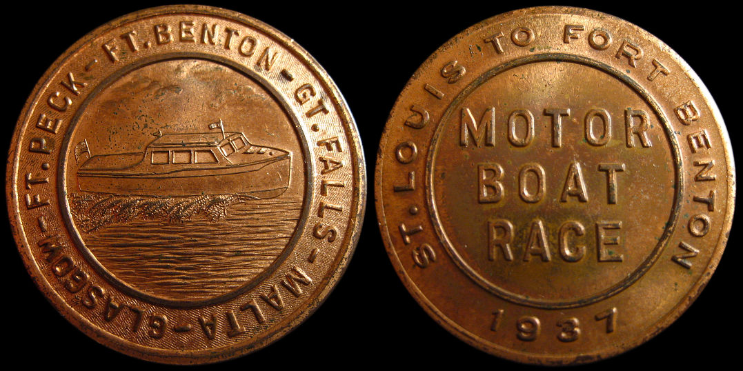 St. Louis Missouri to Fort Benton Motor Boat Race 1937 Medal
