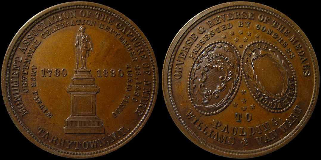 Monument Association of the Centennial Capture of Andre 1780 Medal