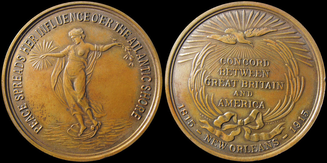 Concord Between Great Britain and America New Orleans 1915 Medal