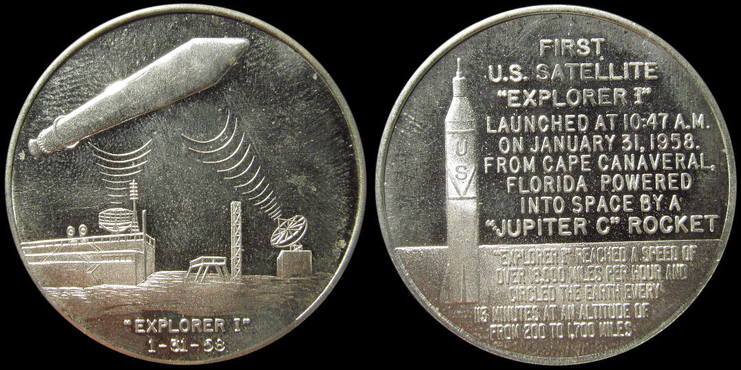 First U.S. Satellite January 1958 Explorer I Cape Canaveral Medal