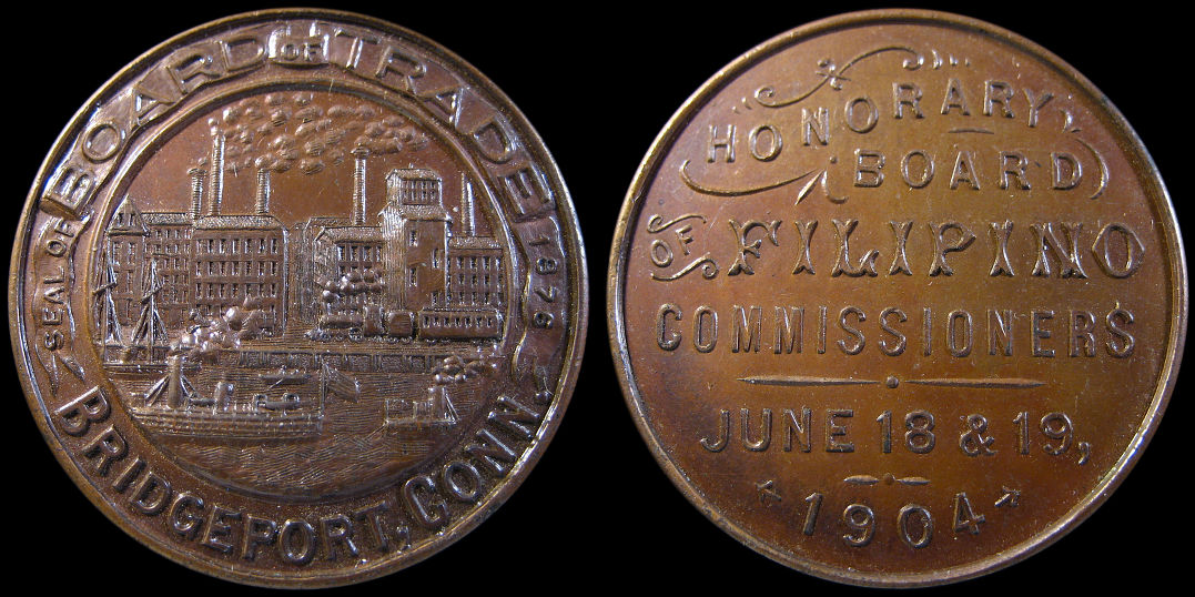 Bridgeport Board of Trade Filipino Commissioners 1904 Medal