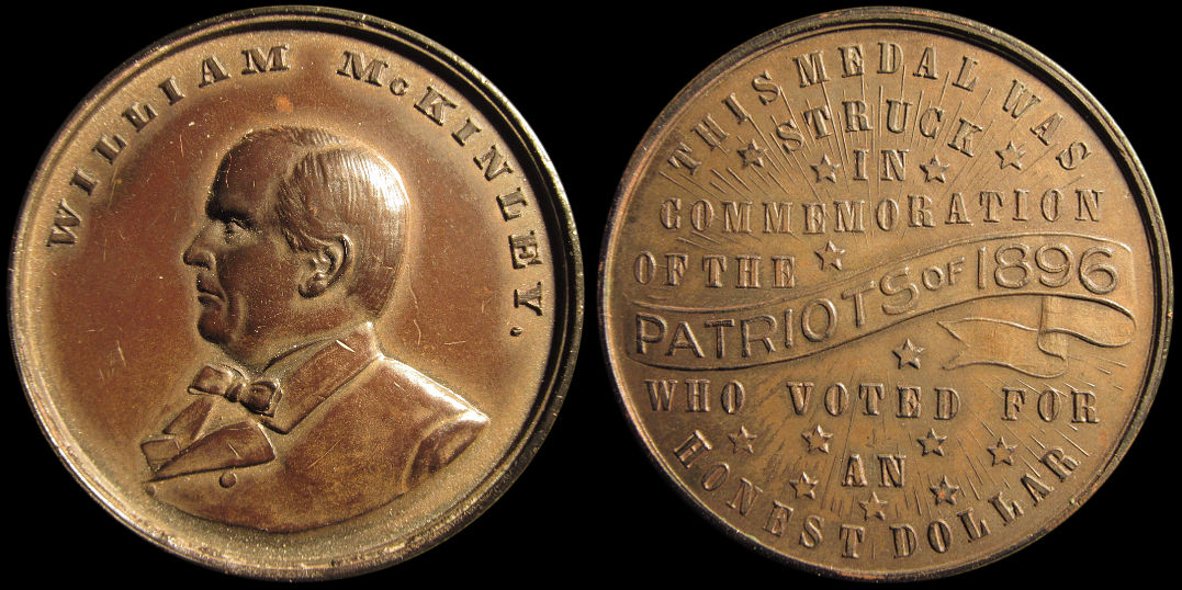 William McKinley Voted For Honest Dollar Patriots of 1896 Medal