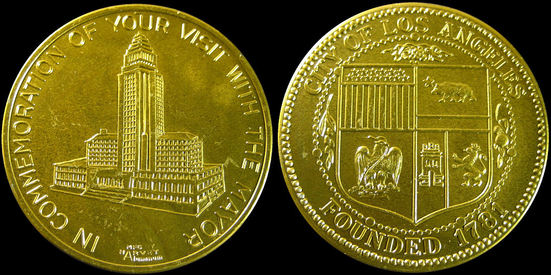 In Commemoration Of Your Visit With The Mayor Los Angeles Token