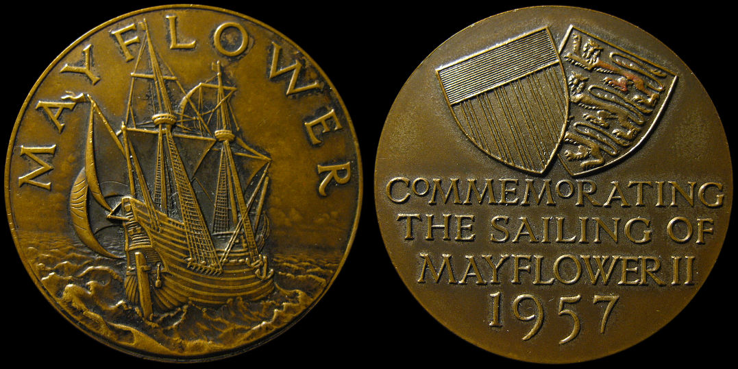 Commemorating The Sailing Of Mayflower II 1957 Medal