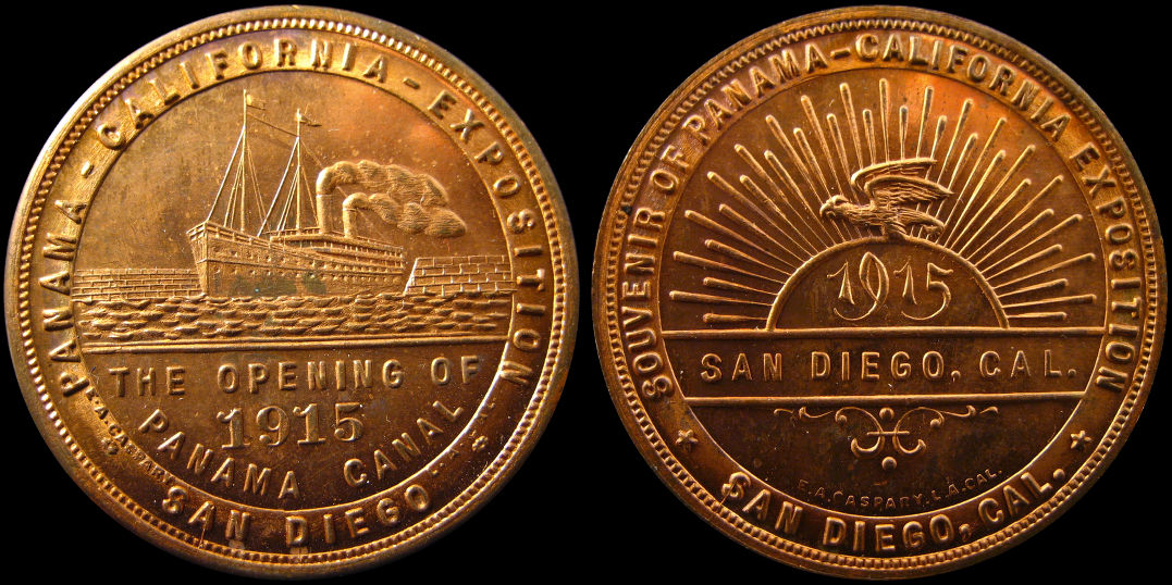 1915 Panama California Exposition Panama Canal Opening Medal