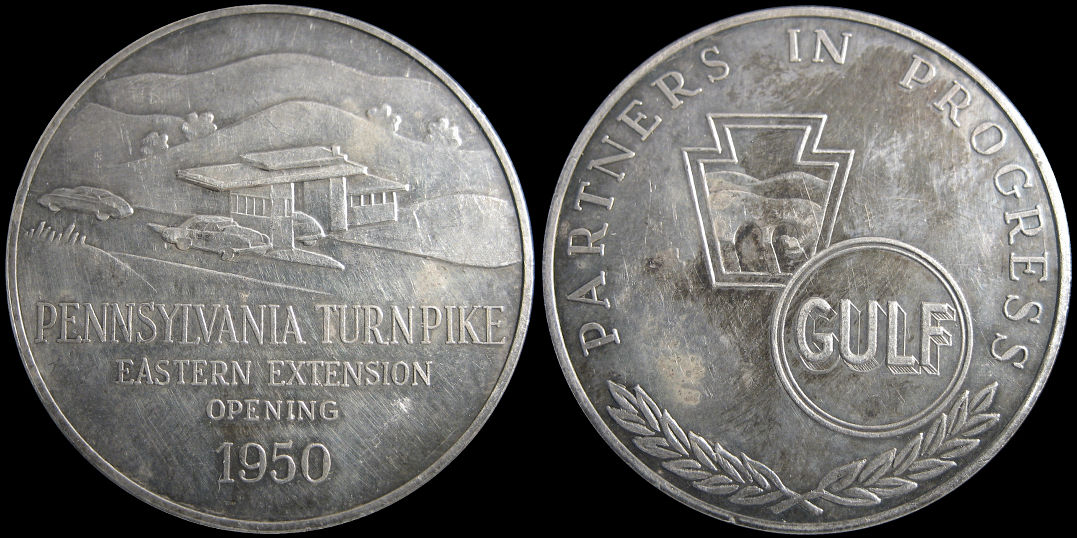 Pennsylvania Turnpike Eastern Extension Opening 1950 Gulf Medal