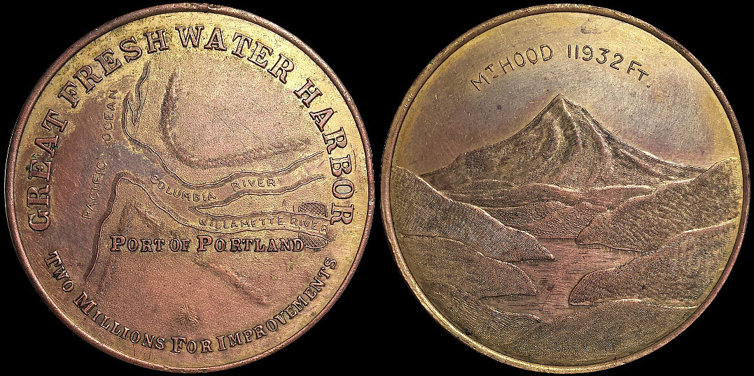 Port of Portland Two Millions For Improvement Mount Hood Medal
