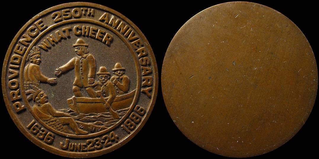 Providence 250th Anniversary 1636 1886 What Cheer Medal