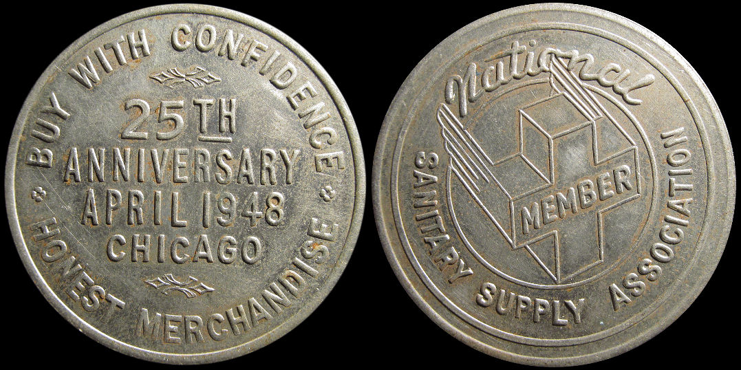National Sanitary Supply Association 25th Anniversary 1948 Souvenir Medal