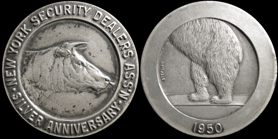 New York Security Dealers Association Silver Anniversary 1950 Medal