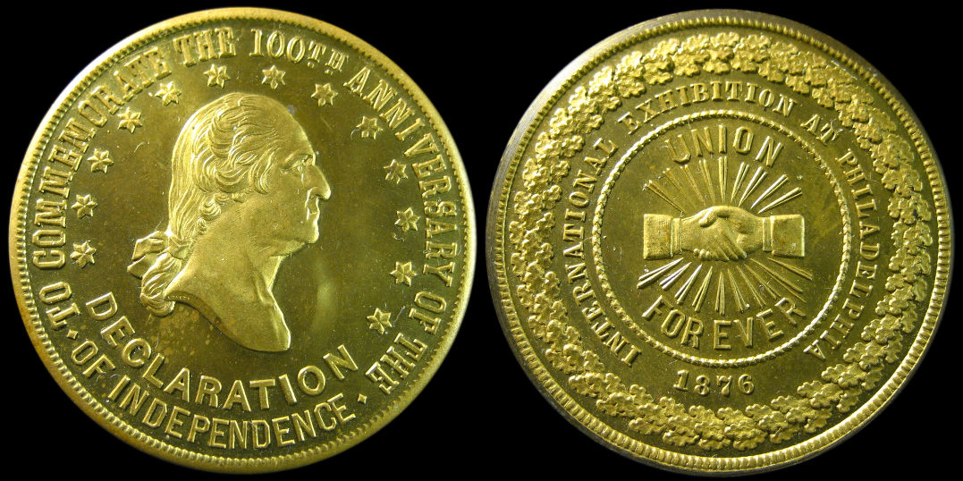 Anniversary of American Independence Union Forever Washington Medal