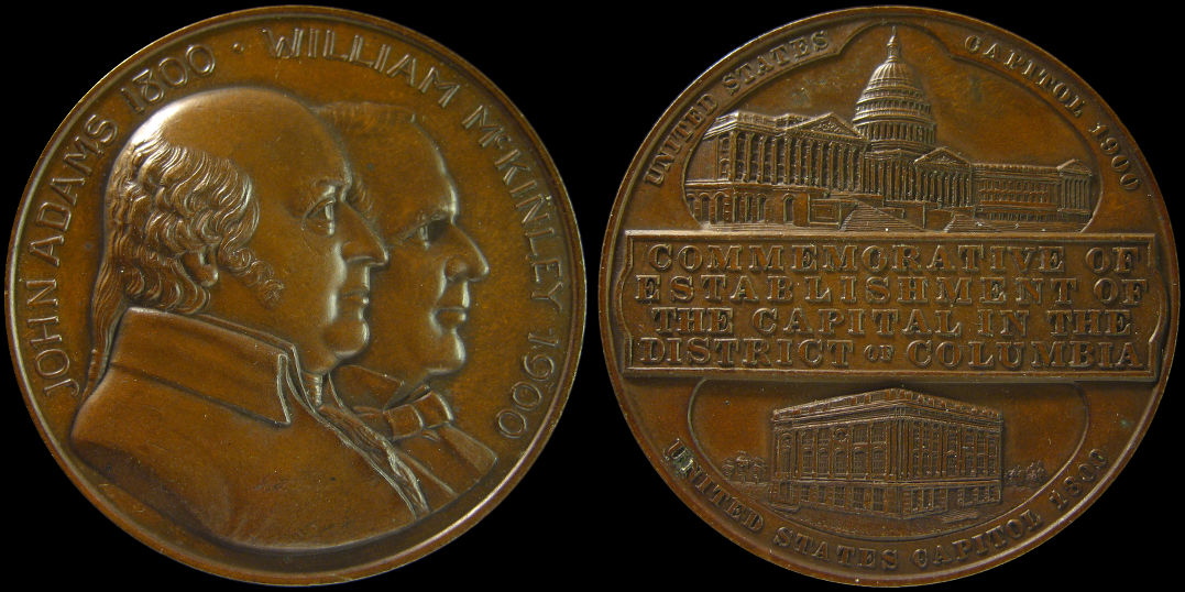 United States Capitol Commemoration Adams McKinley Medal