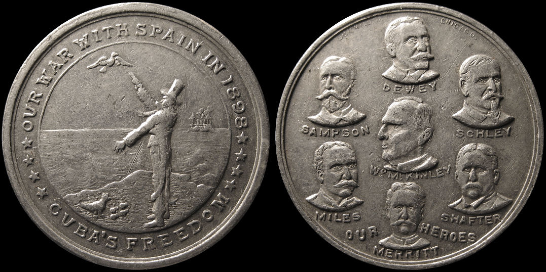 Our War With Spain 1898 Cuba Freedom Our Heroes Medal