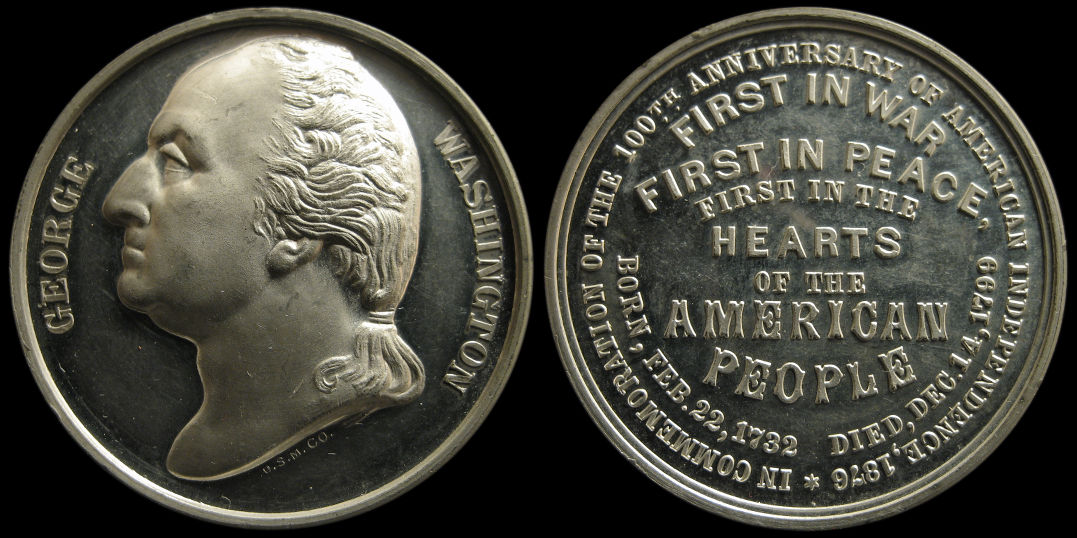 George Washington 1876 Anniversary of American Independence Medal